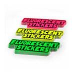 Fluorescerande klistermärken