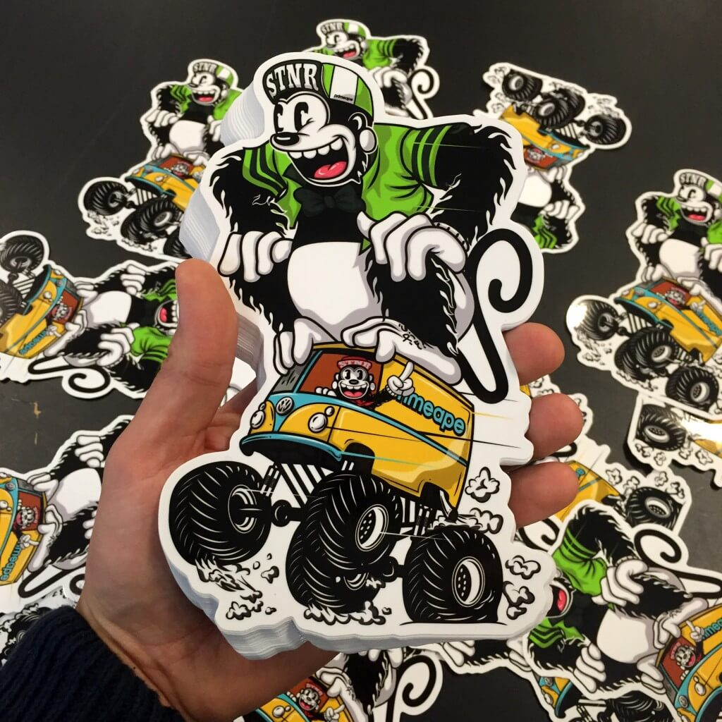 stansade stickers