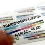 Transparenta etiketter